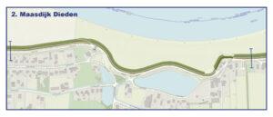 Kaart Maasdijk Dieden