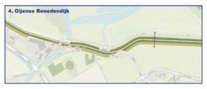 Kaart Oijense Benedendijk