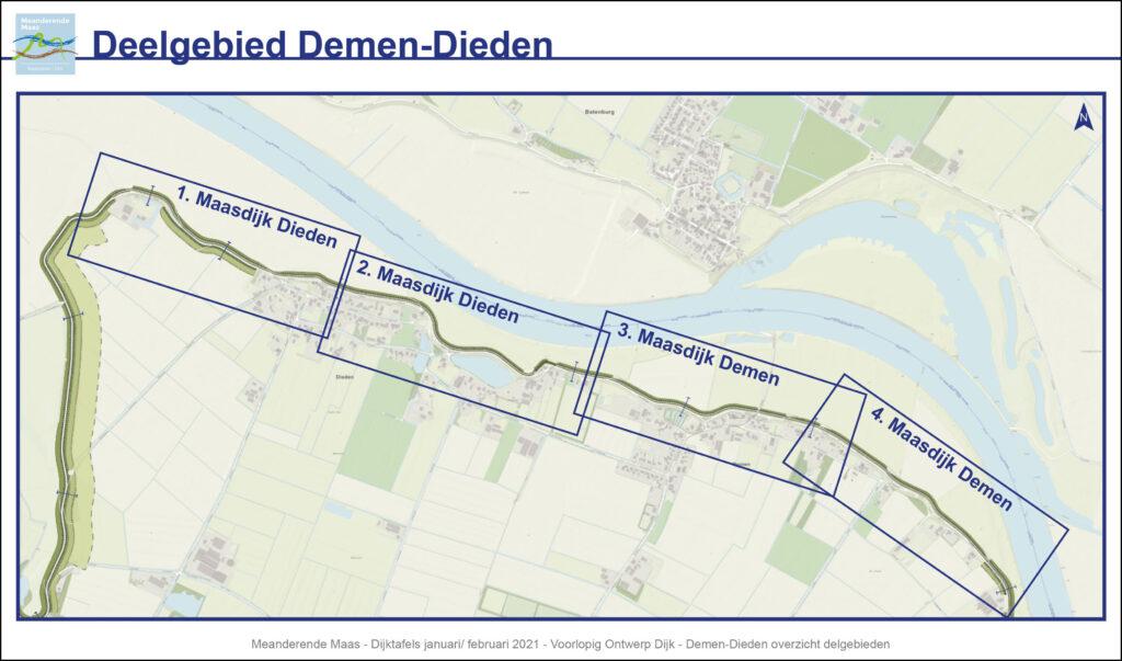 Overzichtskaart van het deelgebied Demen-Dieden