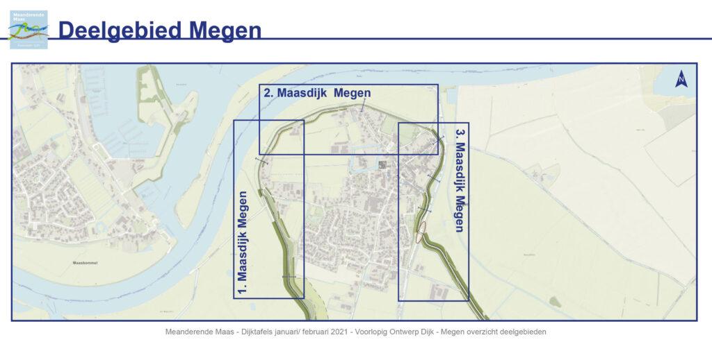 Overzichtskaart van het deelgebied Megen