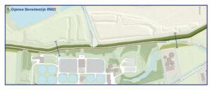Kaart Oijense Benedendijk RWZI