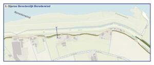 Kaart Oijense Benedendijk Benedeneind