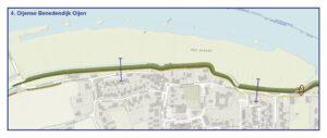 Kaart Oijense Benedendijk Oijen