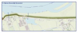 Kaart Oijense Bovendijk Boveneind