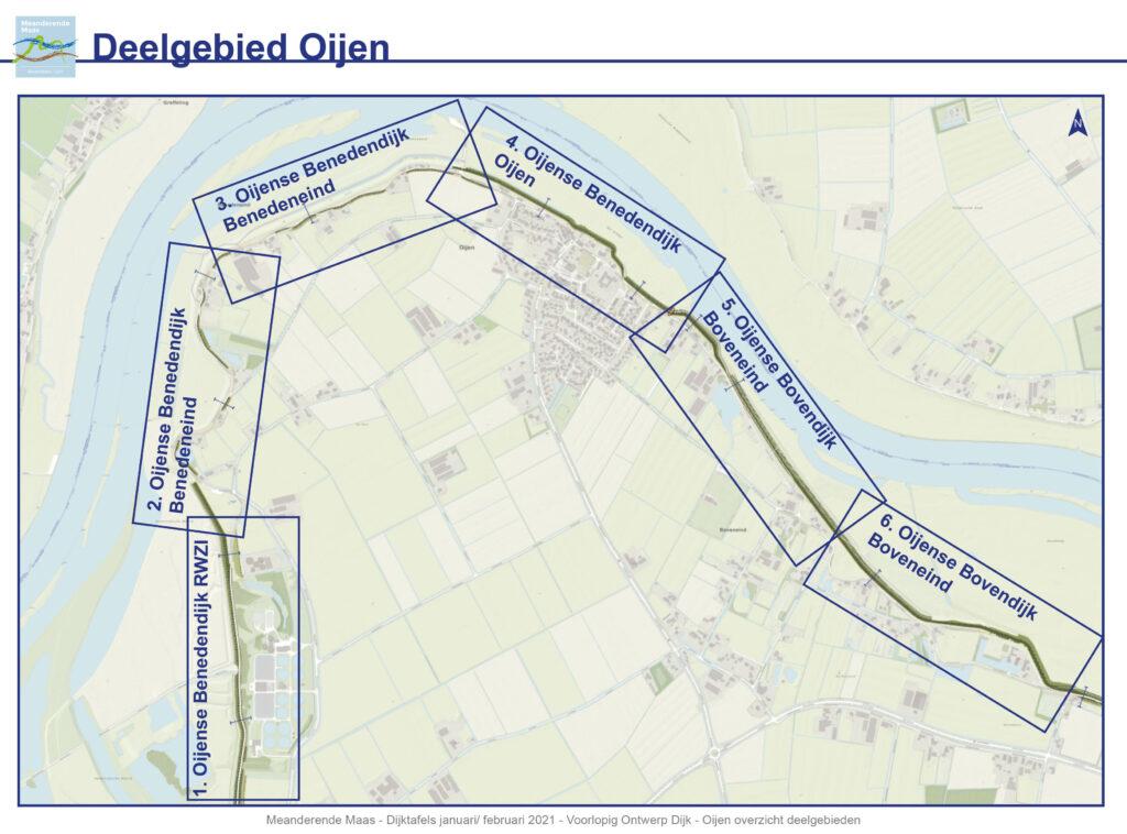 Bekijk de overzichtskaart van het deelgebied Oijen