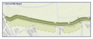 Kaart Harensedijk Megen