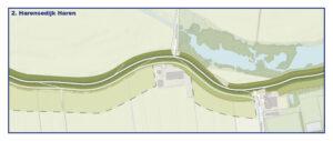 Kaart Harensedijk Haren