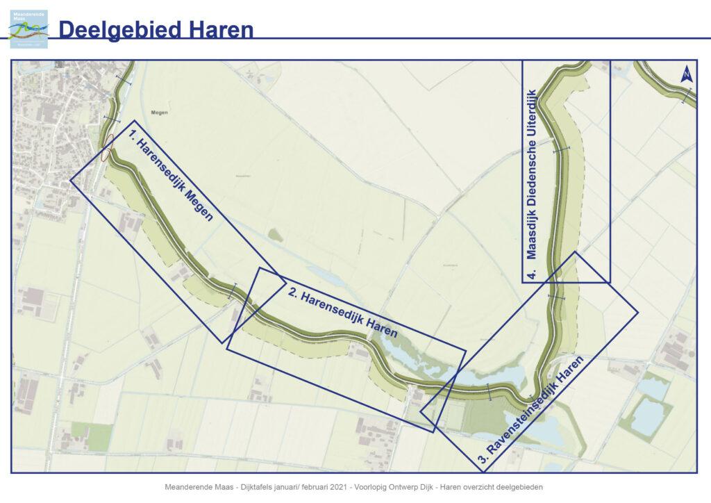 Overzichtskaart van het deelgebied Haren