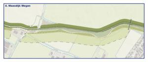 Kaart Maasdijk Megen