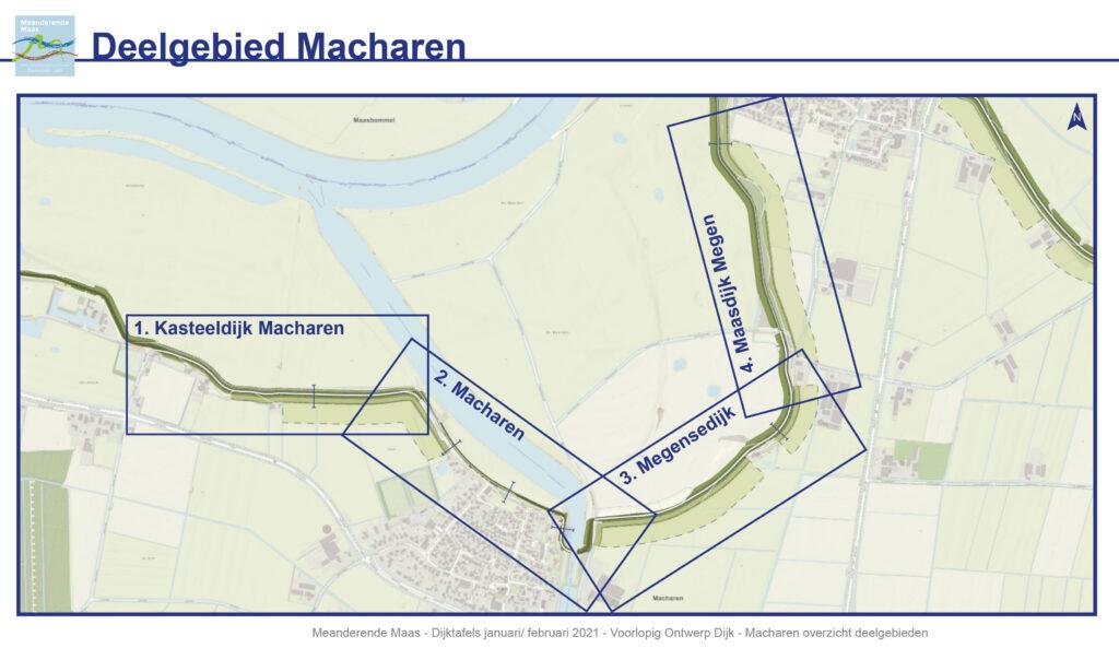 Overzichtskaart van het deelgebied Macharen