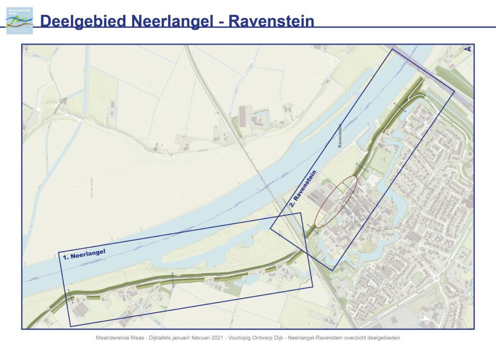 Overzichtskaart van het deelgebied Neerlangel-Ravenstein